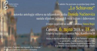 "Predstavljanje knjige / presentazione del libro: Daniel Načinović – ""Lo schiavone"""