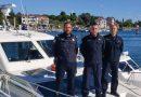 Video: Pomorski policajci spasili posadu s goruće ribarice!